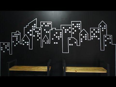 Cara Mudah Menggambar Pola Gedung Di Dinding Dengan Background Hitam Youtube Dinding Menggambar Pola Pola