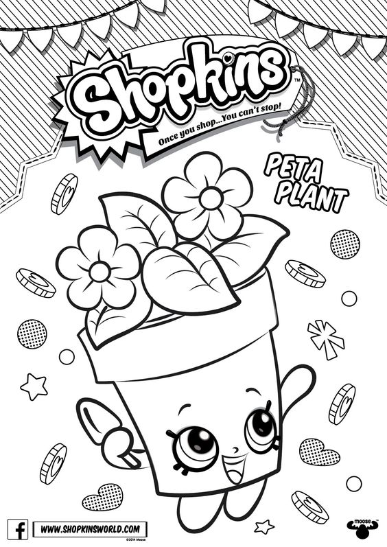 Shopkins Coloring Pages Season