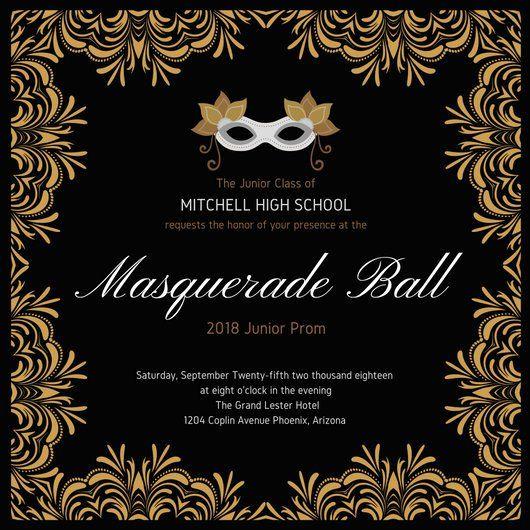 Free Printable Masquerade Birthday Party Invitation Template Masquerade Invitations Masquerade Party Invitations Party Invite Template