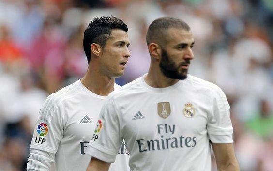 Karim Benzema and Cristiano Ronaldo
