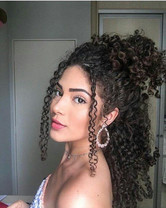 Que cacheada linda, mds😍❤ . . #Cachos #crespa #Transicaocapilar #voltandoaoscachos #cacheada #todecacho #cacheadas #cabelo…