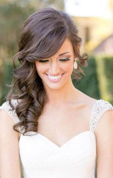 Peinados Semirecogidos De Lado Trendypeinados Trendy2019 Wedding Hair Side Medium Hair Styles Down Hairstyles