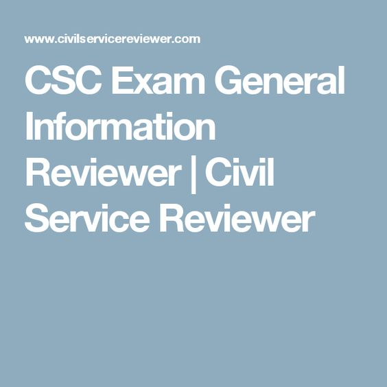 CSC Exam General Information Reviewer | Civil Service Reviewer
