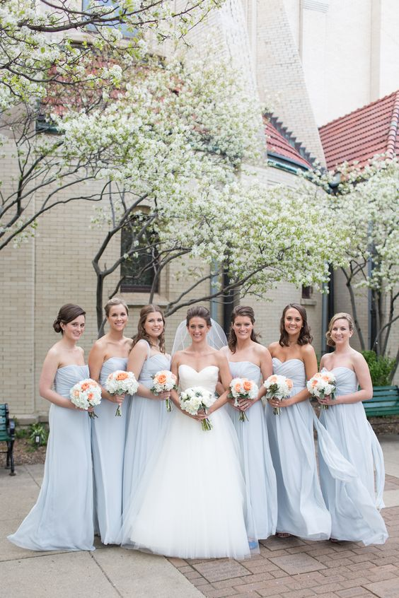 Pale Blue Bridesmaid Dresses 75