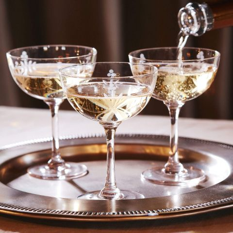 Wharton Champagne Coupe Set Of Six Eat Drink Champagne Coupes Vintage Wine Glasses Luxury Dinnerware