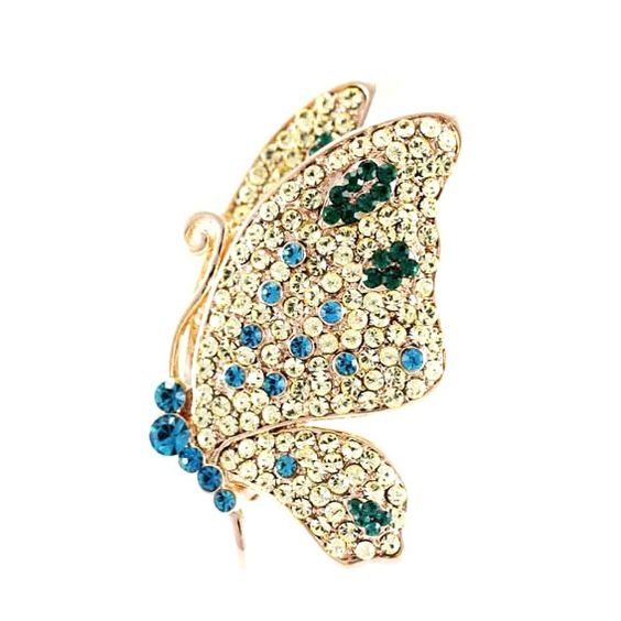 Butterfly Crystal Inlay Brooch