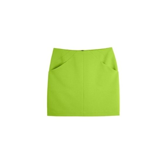 ELEANOR Basic Skirt ($79) ❤ liked on Polyvore featuring skirts, bottoms and green skirt