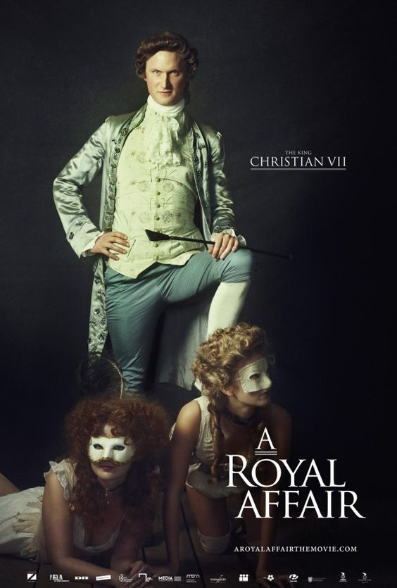 """En kongelig affære [A Royal Affair] - Nikolaj Arcel 2012 - DVD07882 -- """"A young queen, who is married to an insane king, falls secretly in love with her physician - & together they start a revolution that changes a nation forever."""""""