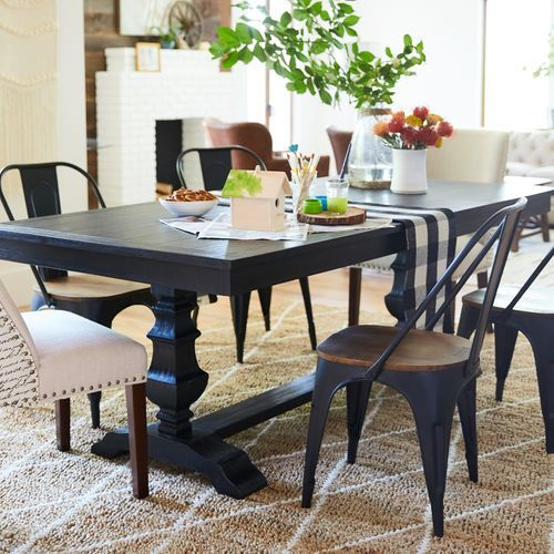 Bradding Black Plank Dining Tables Pier 1 Imports Dining Table