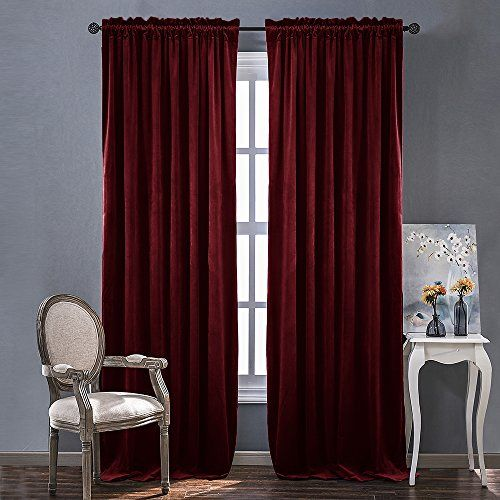 Red Velvet Curtains And Drapes For Bedroom Ruby Red Curtains For