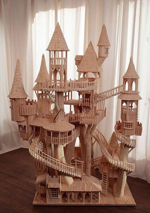 ch teau en b ton de glace et allumettes castle pictures. Black Bedroom Furniture Sets. Home Design Ideas