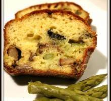 Recette - Cake cèpes et asperges - Proposée par 750 grammes
