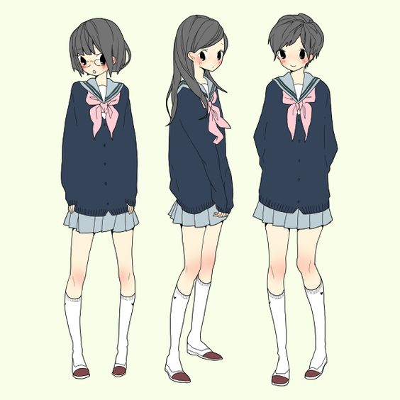 anime girl school uniform