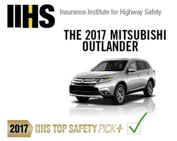 Mitsubishi Outlander Earns Iihs Top Safety Pick Mitsubishi