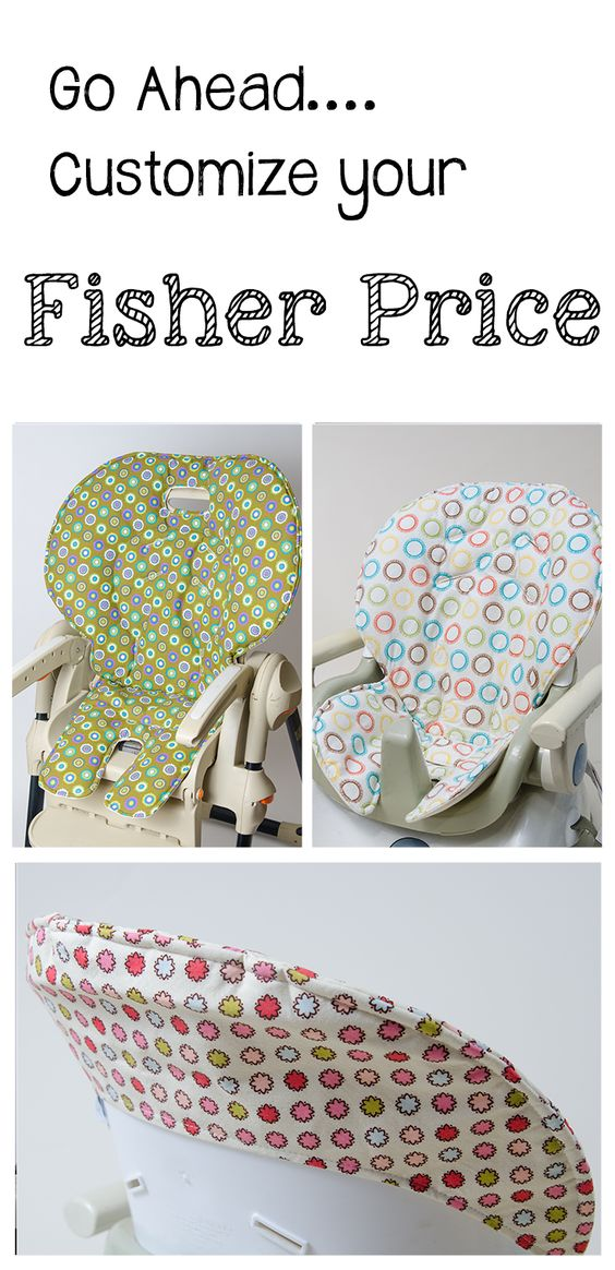 Handmade and stylish replacement high chair covers for Fisher Price