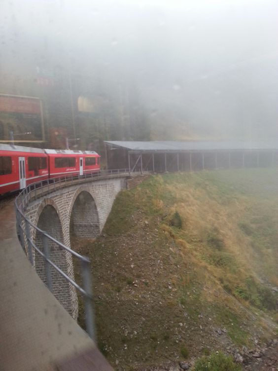 On the Bernina Express Red Train. For packages please visit: http://www.activitybreaks.com/bernina-express/