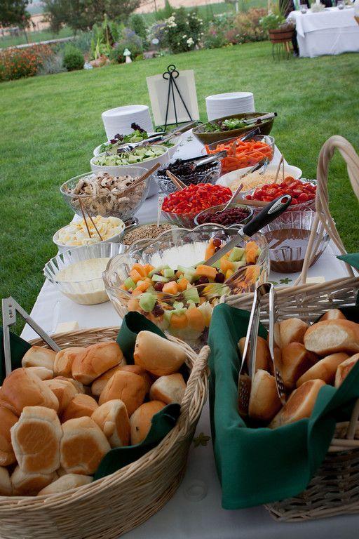 Backyard weddings salads and backyards on pinterest for Meal outdoors