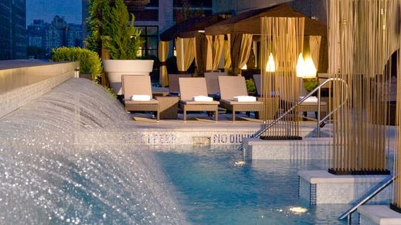 Bar d'Eau - Trump Soho New York  A seventh floor urban retreat with views of Soho and Lower Manhattan plus a 6,000 Square-foot pool for poolside drinking and NYC mingling!!