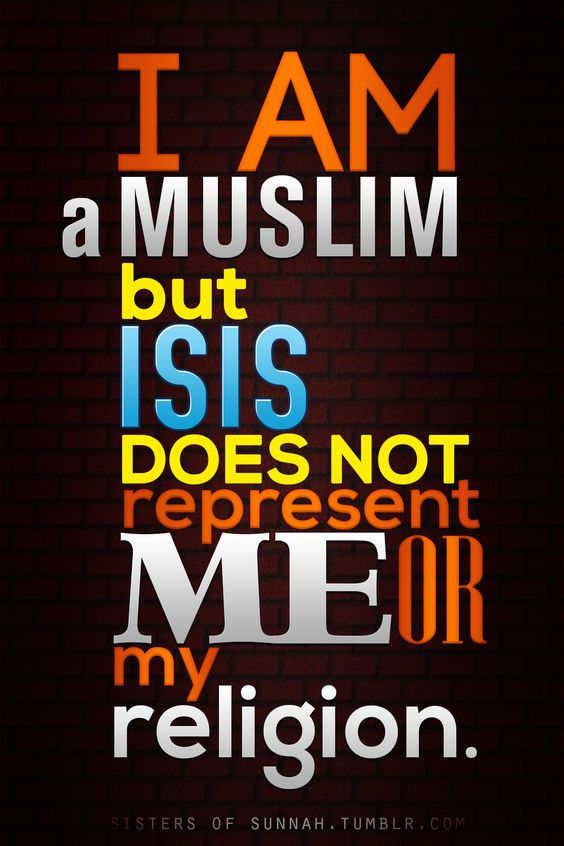 I AM a proud Muslim, a good Muslim. Like the 98% that also are Really good Muslims. Please don't judge what you don't know ... kd