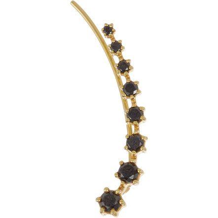 Sara Weinstock Black Diamond & Gold Ear Cuff at Barneys.com