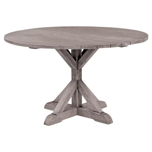 Kingsley Bate Provence French Grey Teak Outdoor Round Dining Table