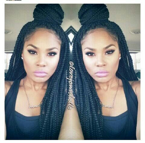 Magnificent Protective Hairstyles Ninja Bun And Braids On Pinterest Hairstyles For Women Draintrainus