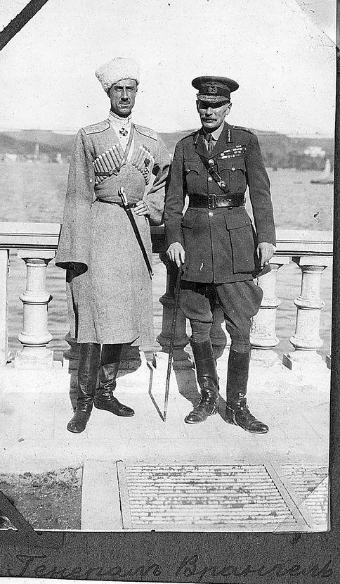 General Wrangel and the British General Harrington. - Constantinople, 1921