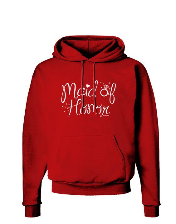 TooLoud Maid of Honor - Diamond Ring Design Dark Hoodie Sweatshirt