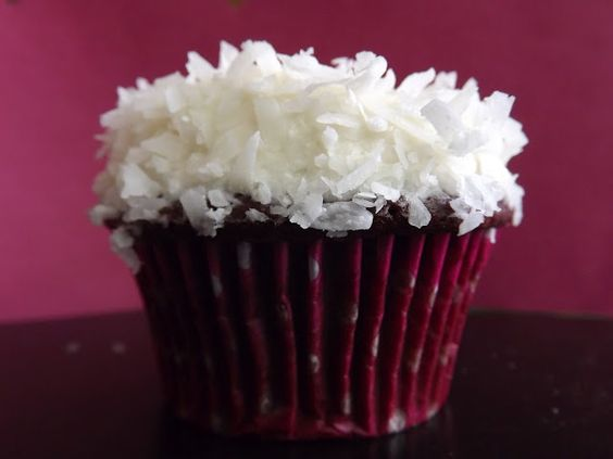 Red Velvet Coconut Cupcakes with Buttercream frosting & coconut ...