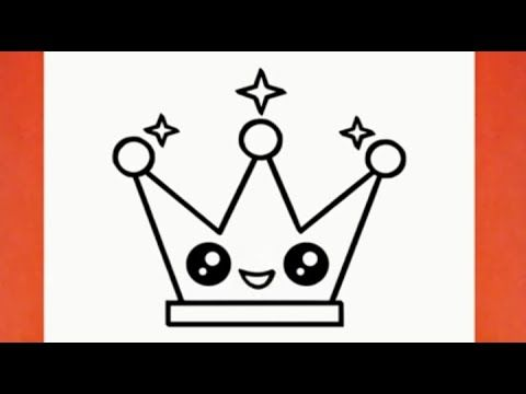 Easy Drawing How To Draw A Cute Crown Step By Step Cool Drawings Pencil Sketch Youtube Cool Drawings Easy Drawings Pencil Drawings