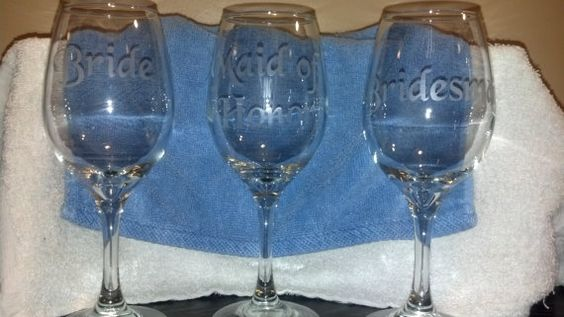 Hey, I found this really awesome Etsy listing at https://www.etsy.com/listing/198286665/set-of-4-personalized-etched-bride