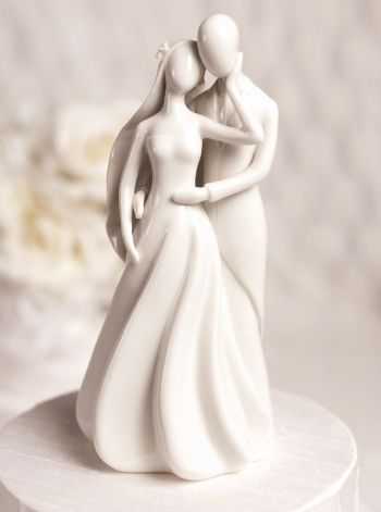 Silhouette of Love Cake Topper Figurine (White)
