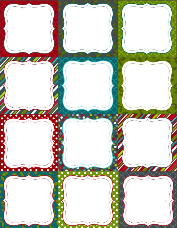 Free printable labels, Printable labels and Holiday themes on ...