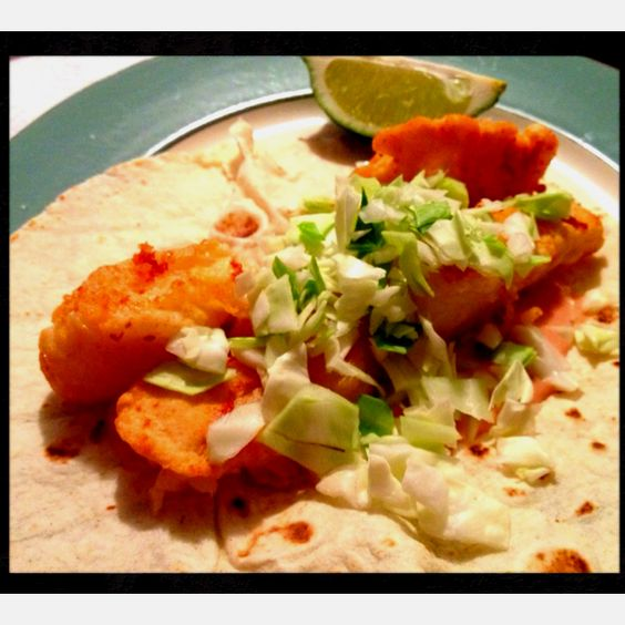 Ended up mashing three recipes together to make my own fish tacos YUM
