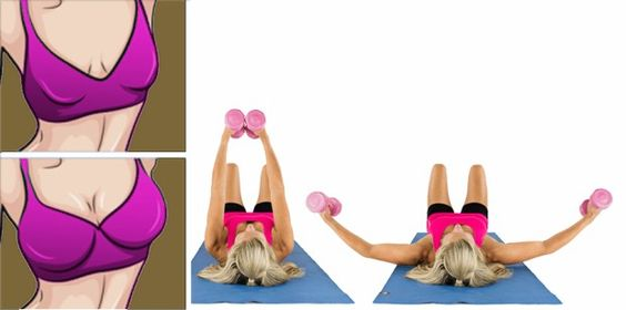 Give your breasts a lift with this quick five-minute workout. Toning, tightening, and strengthening your pecs will give your chest a natural boost. So grab a set of dumbbells between 5 and 10 pounds, and get ready to for some push-ups to help your push-up