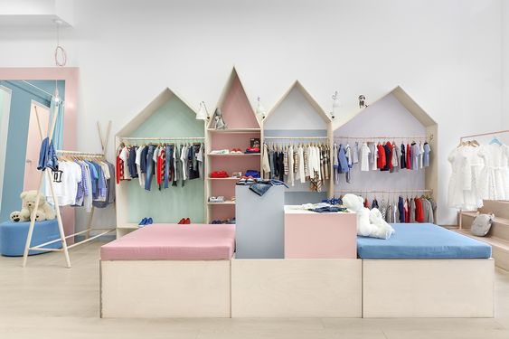 Childrens clothing shop in Kyiv, Ukraine, designed by Lena ...