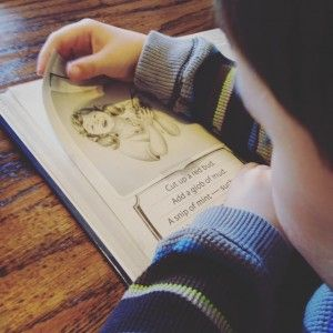 """""""Poetry tea time never fails to bring out the enchantment for us, even when it's rushed, as it was this week.  The joy the DLM expressed when he was able to read his own poem from his All About Reading reader was heartwarming.  I'm so glad I decided to stop for poetry tea time [...]."""""""