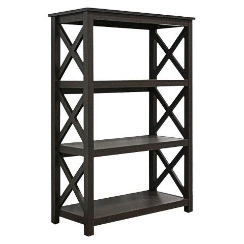 Open Format 3 Shelf Bookcase Threshold Shelves Brown And