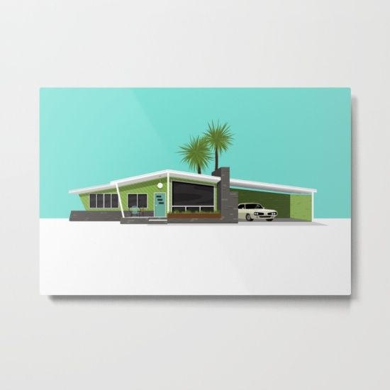 Our Metal Prints Are Thin Lightweight And Durable 1 16 Aluminum Sheet Canvas The High Gloss Finish Enhances Metal Prints Mid Century House Prints
