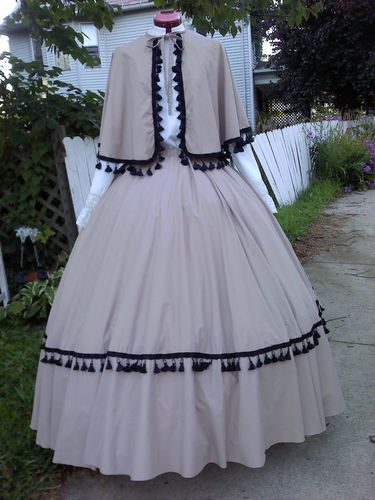 Civil War Victorian Dickens Dress Costume 2pcs Skirt Cape New
