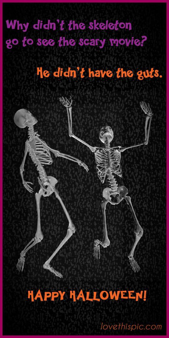 Skeletons funny spooky jokes lol halloween humor pinterest