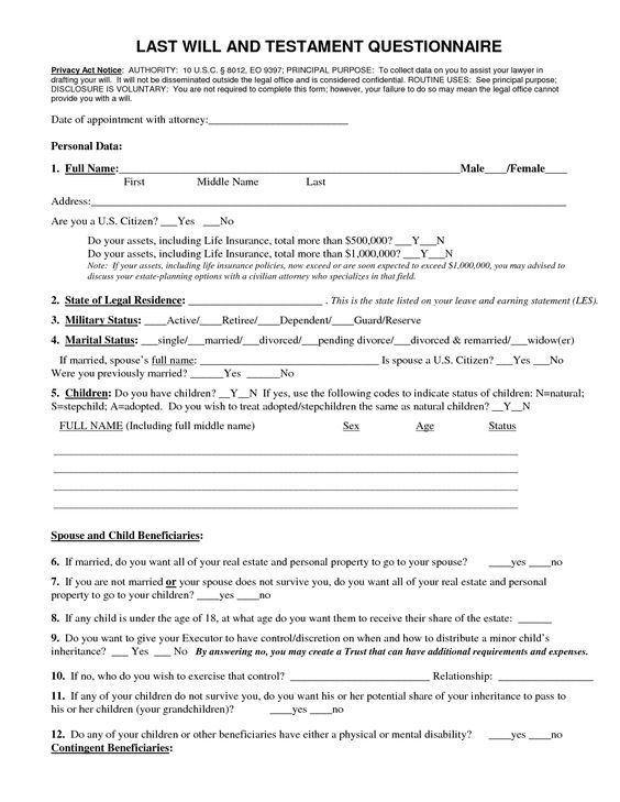Last Will And Testament Freewillstoprint Com Last Will And Testament Will And Testament Estate Planning Checklist
