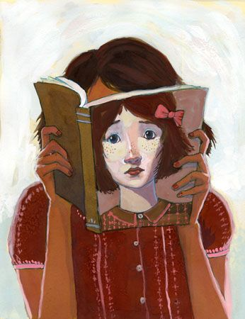 Is this the face of the reader? / Será este el rostro de la lectora? (ilustración de Erin McGuire)