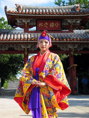 Traditional Okinawan ceremonial dress