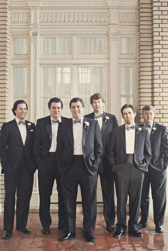 Black & White checkered bowties at this southern celebration! Photography by ourlaboroflove.com