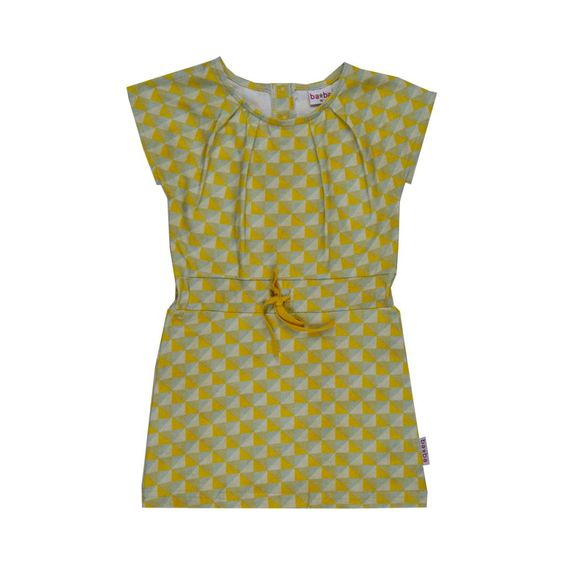 Pleat Dress - Yellow Triangle