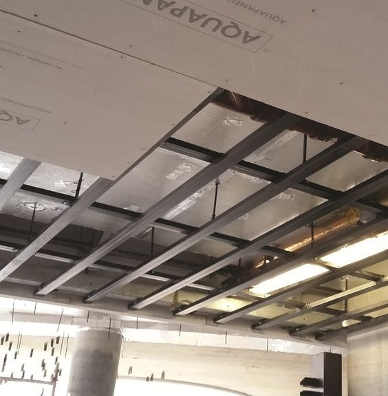 Knauf Aquapanel Cement Boards Are Combined With High Quality Products To Provide A Full Exterior And Interior Ceiling System Supp Ceiling System Ceiling Indoor