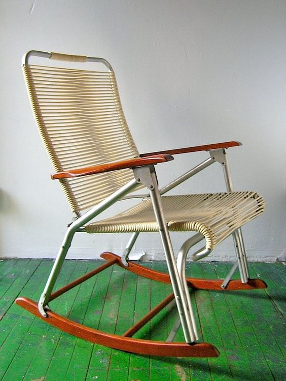 50s rocking chair - Telescope Furn Co outdoor