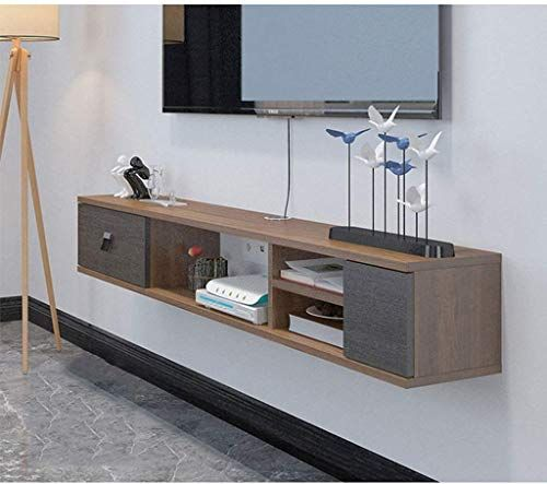 New Floating Shelf Modern Floating Shelf Tv Console Wall Mount Tv Stand Tv Console Entertainment Unit Multimedia Storage Shelf Gaming Consoles Wall Shelf Dvd B In 2020 Modern Floating Shelves Modern Shelving