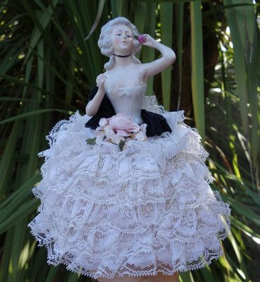Antique Wallendorf Pin Cushion Deco Porcelain Half Doll Germany Halfdoll Deco | eBay